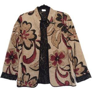 Alfred Dunner Embroidered Floral Travel Jacket